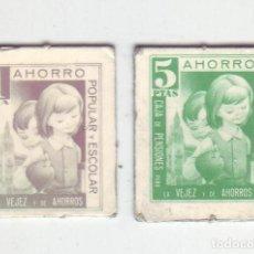 Monedas locales: 1 Y 5 PESETAS - VALES DINERARIOS DE AHORRO POPULAR Y ESCOLAR - CAJA DE PENSIONES (LA CAIXA). Lote 200130663