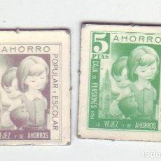 Monedas locales: 1 Y 5 PESETAS - VALES DINERARIOS DE AHORRO POPULAR Y ESCOLAR - CAJA DE PENSIONES (LA CAIXA). Lote 200130672