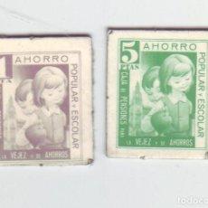 Monedas locales: 1 Y 5 PESETAS - VALES DINERARIOS DE AHORRO POPULAR Y ESCOLAR - CAJA DE PENSIONES (LA CAIXA). Lote 200130683