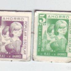 Monedas locales: 1 Y 5 PESETAS - VALES DINERARIOS DE AHORRO POPULAR Y ESCOLAR - CAJA DE PENSIONES (LA CAIXA). Lote 200130695