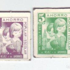 Monedas locales: 1 Y 5 PESETAS - VALES DINERARIOS DE AHORRO POPULAR Y ESCOLAR - CAJA DE PENSIONES (LA CAIXA). Lote 200130711
