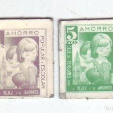 Monedas locales: 1 Y 5 PESETAS - VALES DINERARIOS DE AHORRO POPULAR Y ESCOLAR - CAJA DE PENSIONES (LA CAIXA). Lote 200130723