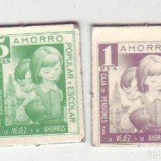 Monedas locales: 1 Y 5 PESETAS - VALES DINERARIOS DE AHORRO POPULAR Y ESCOLAR - CAJA DE PENSIONES (LA CAIXA). Lote 200130732