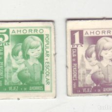 Monedas locales: 1 Y 5 PESETAS - VALES DINERARIOS DE AHORRO POPULAR Y ESCOLAR - CAJA DE PENSIONES (LA CAIXA). Lote 200130750