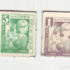 Monedas locales: 1 Y 5 PESETAS - VALES DINERARIOS DE AHORRO POPULAR Y ESCOLAR - CAJA DE PENSIONES (LA CAIXA). Lote 200130777
