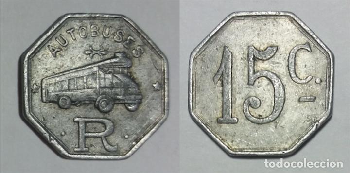 FICHA AUTOBUSES ROCA, BARCELONA (Numismática - España Modernas y Contemporáneas - Locales y Fichas Dinerarias y Comerciales)