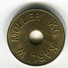 Monedas locales: ALEMANIA FICHA / TOKEN /JETON KARL W. MULLER EXCELENTE ESTADO. Lote 200833336