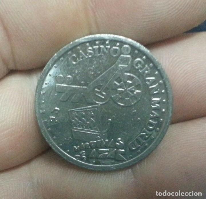 Monedas locales: ## RARA FICHA 100 PESETAS DEL GRAN CASINOMADRID-FNMT ## - Foto 2 - 201517686