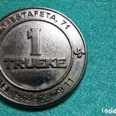Monedas locales: NAVARRA-PAIS VASCO- MONEDA-* 1 TRUEKE *BAR LA GRANJA-CALLE ESTAFETA 71- PAMPLONA-IRUÑA -PERFECTA-. Lote 213029228