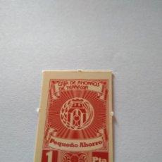 Monedas locales: VALE CAJA AHORROS TERRASSA 1 PESETA CIRCULÓ COMO MONEDA AÑOS 1970 CAIXA D'ESTALVIS. TARRASA. BANCO. Lote 201808502