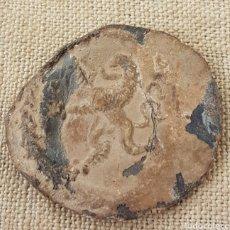 Monedas locales: ANTIGUO PLOMO MARCHAMO GUERRA INDEPENDENCIA LEON RAMPANTE. Lote 202640413