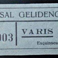 Monedas locales: VALE CUPÓN CASAL GELIDENC GELIDA BARCELONA CATALUÑA VARIOS 10 CTS. Lote 202653317