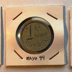 Monedas locales: 2 FICHAS PRUEBA DEL EURO MUNGUÍA, VIZCAYA. 2, 1 € Y 1 CT. Lote 202708222