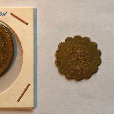Monedas locales: 3 FICHAS SOCIEDAD COOPERATIVA DE CONSUMOS AURRERA. VIZCAYA. 1 Y 2 KILOS Y 1 PTS. Lote 202708863