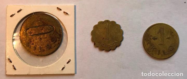 Monedas locales: 3 fichas sociedad cooperativa de consumos aurrera. vizcaya. 1 y 2 kilos y 1 pts - Foto 2 - 202708863