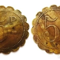 Monedas locales: FICHA DE NECESIDAD VALOR DE 5 P. Lote 204133621