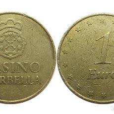 Monedas locales: FICHA CASINO MARBELLA 1 EURO. Lote 106991275
