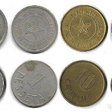 Monedas locales: L'ESQUIROL -COOPERATIVA LA ACTIVIDAD OBRERA **COLECCION COMPLETA 4 PIEZAS , 2-1PTAS.10-5 CTS.. Lote 204459547