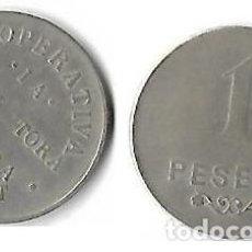 Monedas locales: CODOL-DRET (MASIES DE RODA) **COOPERATIVA LA PROTECTORA OBRERA -1 PESETA**. Lote 204507195