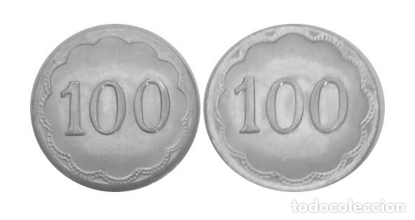 FICHA DE CASINO CON VALOR 100 (Numismática - España Modernas y Contemporáneas - Locales y Fichas Dinerarias y Comerciales)