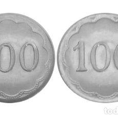 Monedas locales: FICHA DE CASINO CON VALOR 100. Lote 204528885