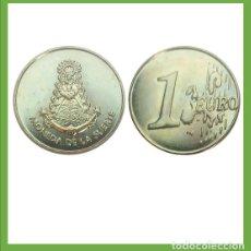 Monedas locales: MONEDA DE LA SUERTE VIRGEN DELL ROCIO, PATRONA DE ALMONTE, HUELVA, ESPAÑA.. Lote 204529115