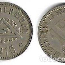 Monedas locales: COOPERATIVA LA FRATERNIDAD 1915 1 PTA. Lote 204700528