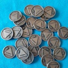 Monedas locales: REVENTA 25 TOKENS CERVEZAS LA ZARAGOZANA AMBAR. Lote 204809208