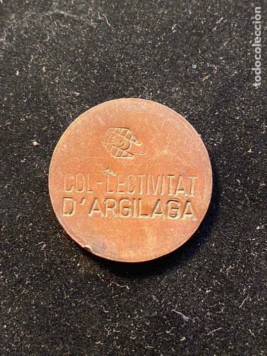 COL LECTIVITAT D' ARGILAGA 1 PESETA (Numismática - España Modernas y Contemporáneas - Locales y Fichas Dinerarias y Comerciales)