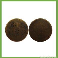 Monedas locales: FICHA ANTIGUA A IDENTIFICAR B.B - 0,20. Lote 205170907
