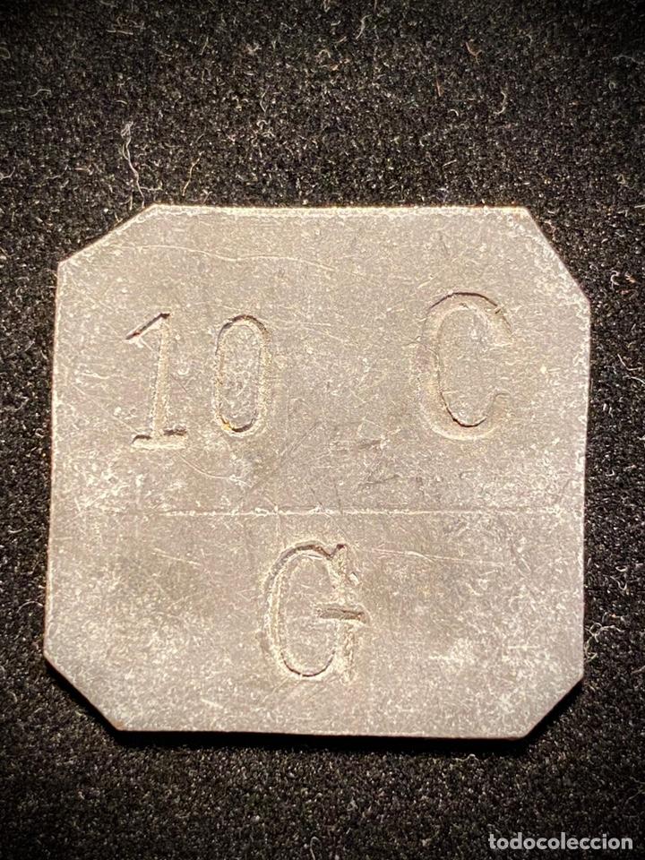GRATALLOPS 10 CTS TARRAGONA ORIGINAL (Numismática - España Modernas y Contemporáneas - Locales y Fichas Dinerarias y Comerciales)