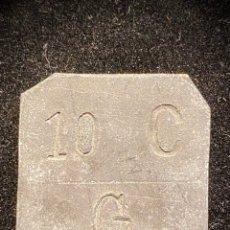 Monedas locales: GRATALLOPS 10 CTS TARRAGONA ORIGINAL. Lote 205329888