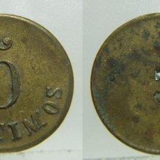 Monedas locales: FICHA DINERARIA VALOR 5 CENTIMOS 3 EN REVERSO 18 MM. Lote 205564745