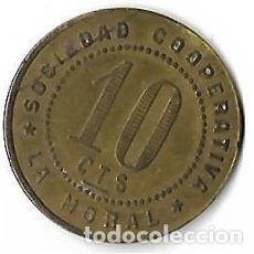 Monedas locales: BADALONA **COOPERATIVA LA MORAL 10 CTS. **. Lote 205567786