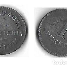 Monedas locales: IGUALADA -**COOPERATIVA UNIO DE COOPERADORS 1 PESETA **. Lote 205572450