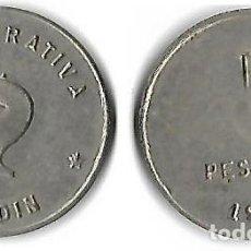 Monedas locales: COOPERATIVA EL JARDIN DE POBLE NOU-BARCELONA 5 PESETAS. Lote 205574377