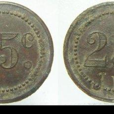 Monedas locales: FICHA DINERARIA 25 C 23 MM. Lote 205574763