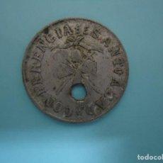 Monedas locales: MONEDA DE NECESIDAD EN ALUMINIO DE CONFERENCIA SANT ABAD DE ASTURIAS. REVERSO L S. ---8. Lote 205580367