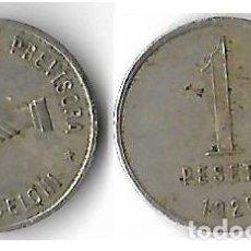 Monnaies locales: SAN CELONI ** COOPERATIVA LA PREVISORA 1926 1 PESETA **. Lote 205662272