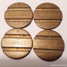 Monedas locales: FICHAS TELÉFONICAS, 4 UNIDADES. Lote 205841577