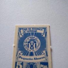 Monedas locales: VALE CAJA AHORROS TERRASSA 5 PESETAS CIRCULÓ COMO MONEDA AÑOS 1970 CAIXA DESTALVIS. TARRASA. BANCO. Lote 233844195
