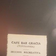 Monedas locales: CAFE BAR GRACIA. 50 CTS. GUERRA CIVIL. Lote 206310710