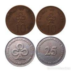Monedas locales: LOTE DE DOS FICHAS DEL CASINO DE ALVOR. Lote 206858058
