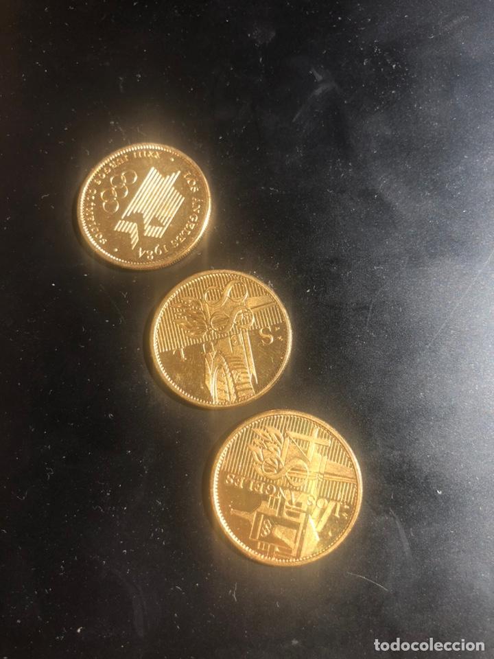 Monedas locales: Monedas de ORO LAMINADO colección de los mundiales 1988 oro 22 kt - Foto 3 - 208217262
