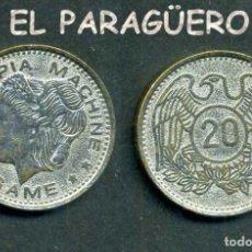 Monedas locales: JETON - FICHA - TOKEN DE 20 ( GAME OLYMPIA MACHINE) - Nº1. Lote 209045650