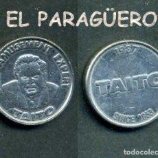 Monedas locales: JETON - FICHA - TOKEN - FOR AMUSEMENT AXPERT = PARA EXPERTO EN DIVERSIONES (TAITO 1957 - 1987) -Nº2. Lote 209047238