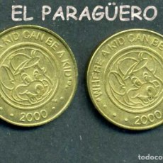 Monedas locales: JETON - FICHA - TOKEN - AÑO 2000 -WHRE A KID CAN BE KID = DONDE UN NIÑO PUEDE SER NIÑO - Nº7. Lote 209054776