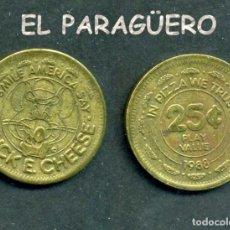 Monedas locales: JETON - FICHA - TOKEN - AÑO 1988 - 25 C - SONRÍE AMÉRICA DIGA EN LA PIZZA CONFIAMOS - Nº9. Lote 209058743