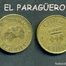 Monedas locales: JETON - FICHA - TOKEN - BEAULIEU CHILD = BELLEZA NIÑO ( COCHE DESCAPOTABLE ANTIGUO ) - Nº11. Lote 209059875
