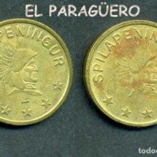 Monedas locales: JETON - FICHA - TOKEN -SPILAPENINGUR - PAPAS FRITAS - Nº13. Lote 209061030